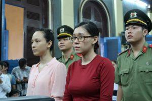 Phương Nga và Thùy Dung tại phiên sơ thẩm lần 2