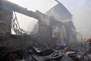 Hiện trường khi đám cháy đã được dập tắt