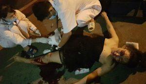 Cô gái bị thương nặng nhất tại hiện trường