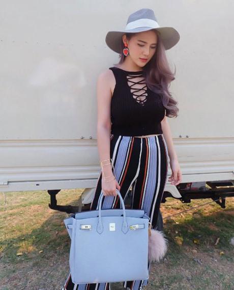 chơi sành, hotgirl sành điệu thái lan, tủ đồ hàng hiệu đáng ngưỡng mộ của hotgirl thái lan