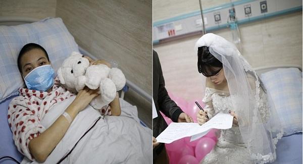 Cảm động trước đám cưới KHÔNG CHÚ RỂ của cô gái mắc bệnh ung thư máu