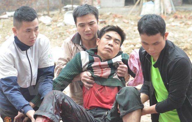 thêm một người đàn ông bị thương vì nhặt đầu đạn còn sót lại su vụ nổ bắc ninh