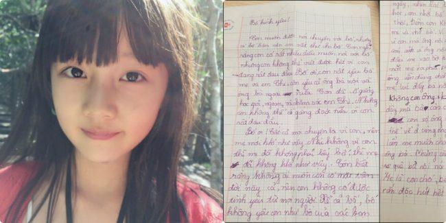 """Nghẹn lòng khi đọc bức thư gửi bố: """"Con biết rằng không ai muốn con có mặt trên đời này.."""""""