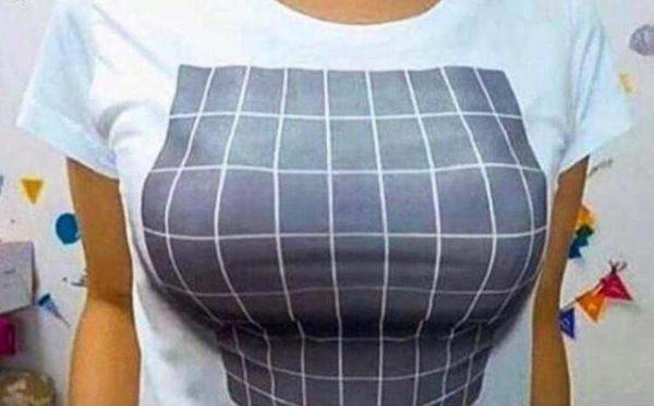 Chuyện lạ chiếc áo phông 3D giúp vòng một đầy đặn thần kì