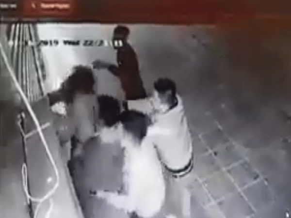 Truy tìm nhóm côn đồ hành hung cô gái ở chung cư Linh Đàm