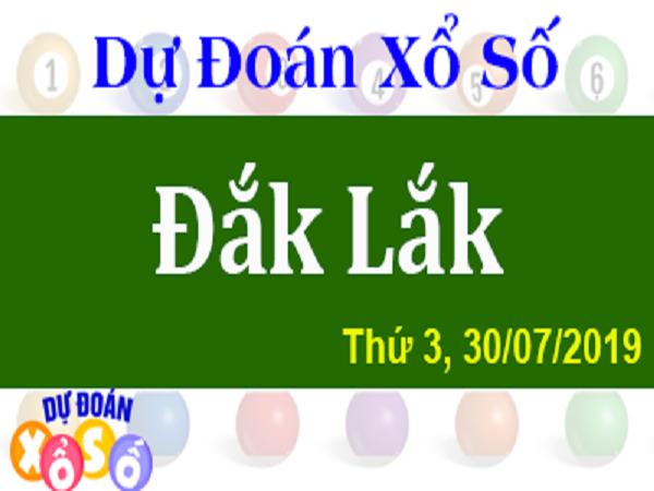 Thống kê kết quả xổ số Đắk Lắk - 30/07/2019 chính xác