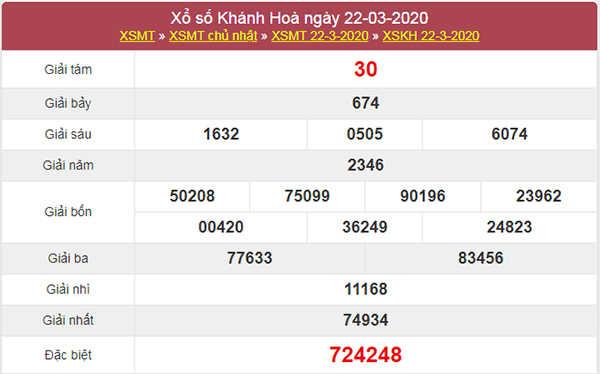Soi cầu XSKH hôm nay 25/3/2020 - KQXS Khánh Hòa thứ 4
