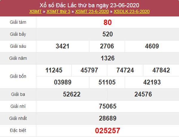 Dự đoán XSDLK 30/6/2020 chốt KQXS ĐắkLắc thứ 3