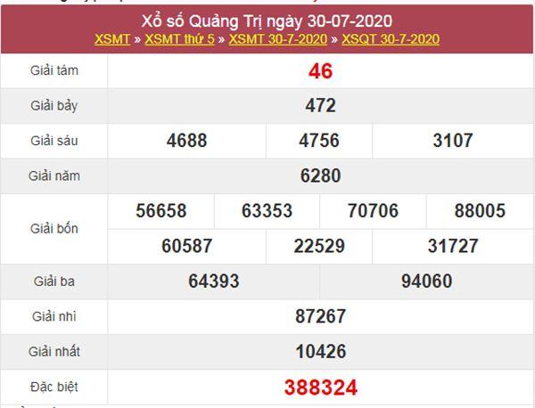 Dự đoán XSQT 6/8/2020 chốt KQXS Quảng Trị thứ 5