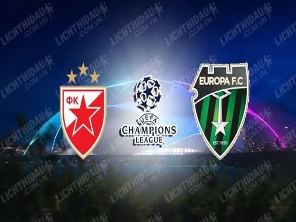 Soi kèo Crvena Zvezda vs Europa 02h00, 19/08 - Champions League