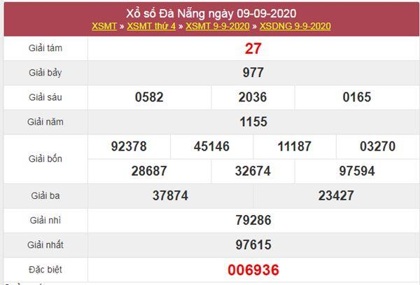 Thống kê XSDNG 12/9/2020 chốt KQXS Đà Nẵng thứ 7