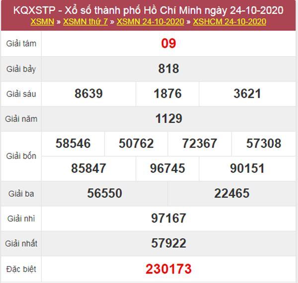 Soi cầu KQXS Hồ Chí Minh 26/10/2020 thứ 2 chính xác nhất