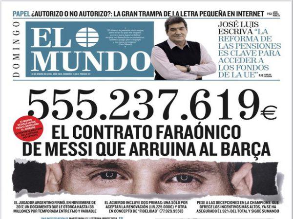 Bóng đá QT tối 1/2: Messi chuẩn bị khởi kiện Barcelona