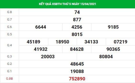 Soi cầu dự đoán XS Bình Thuận Vip ngày 22/04/2021