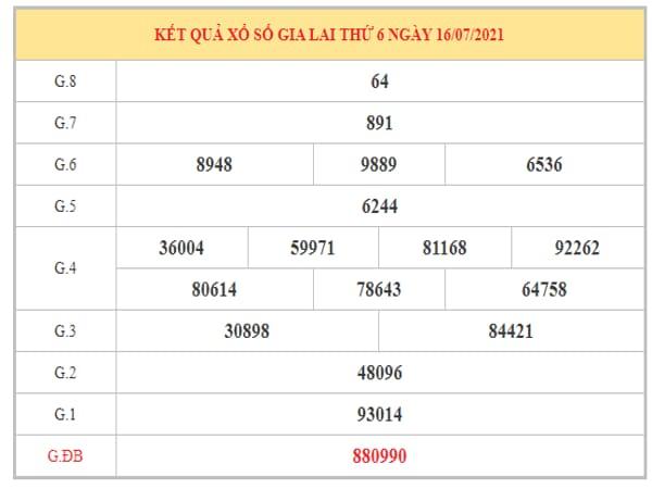 Nhận định KQXSGL ngày 23/7/2021 dựa trên kết quả kì trước