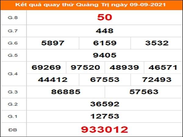 Quay thử xổ số Quảng Trị ngày 9/9/2021
