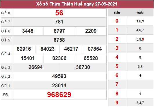 Soi cầu XSTTH ngày 4/10/2021 tham khảo cặp số đẹp thứ 2